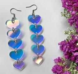 Hologrammihohtoiset TWINKLE TWINKLE LITTLE HEART -korvakorut