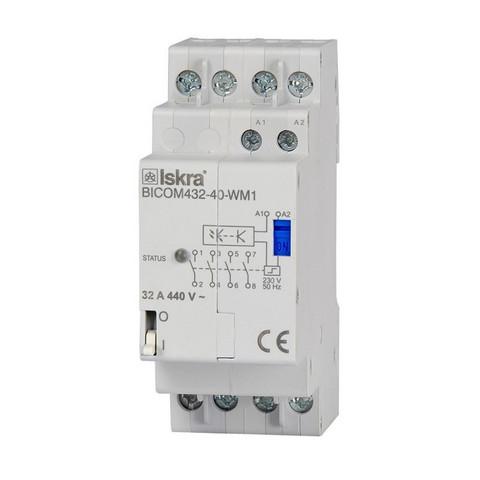 QUBINO - 32A 3-v kontaktori energiamittareille