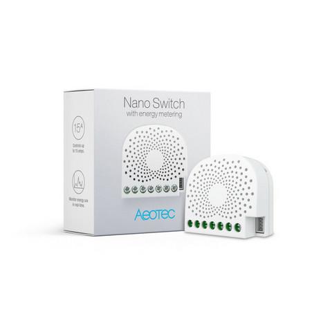 AEOTEC - Z-Wave+ Nano Switch 1x10A energiamittauksella