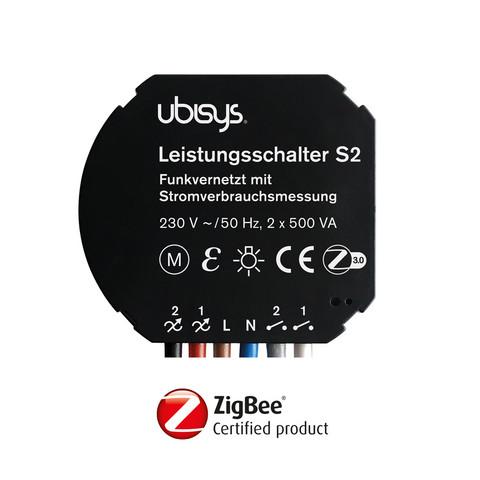 Ubisys Smart Home S2 ZigBee 2 rele