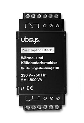 Ubisys Lämmitys/jäähdytystarpeen ilmaisin H10-XS (Lisämoduuli H10:lle)