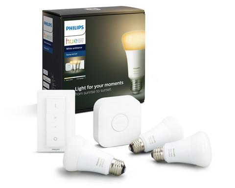 Philips Hue White Ambiance Aloituspakkaus E27 - 3/1/1