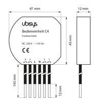 Ubisys Smart Home C4 ZigBee ohjausyksikkö 4 input