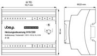 Ubisys Lämmityssäädin H10 (perusmoduuli 230V)