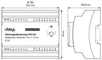 Ubisys Lämmityssäädin H10 (perusmoduuli 24V)