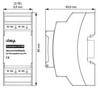 Ubisys Anturiliitäntä H10/XW (Lisämoduuli H10:lle)