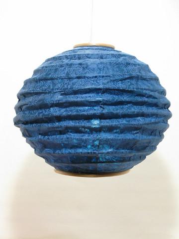 Lokta-pallo 30cm, sininen, 'tiibettiläinen pilvi' -painatus