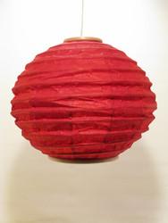 Lokta-pallo 30cm, punainen, 'tiibettiläinen pilvi' -painatus
