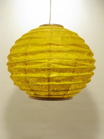 Lokta-pallo 30cm, keltainen, 'tiibettiläinen pilvi' -painatus