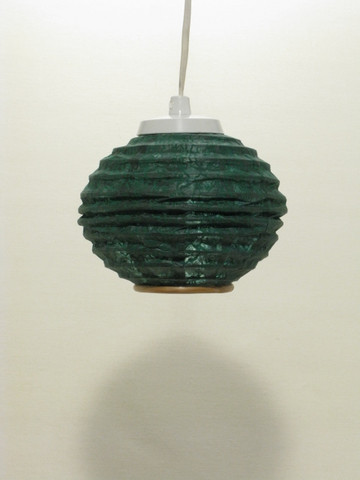 Lokta-minipallo 15cm, vihreä, 'tiibettiläinen pilvi' -painatus