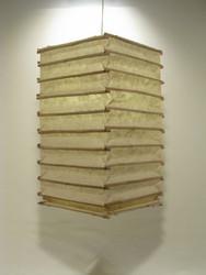 Lokta-kuutio 30x30x60cm, luonnonvalkoinen