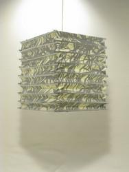 Lokta-kuutio 30x30x40cm, luonnonvalkoinen/hopeinen bambunlehti