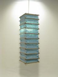 Lokta-kuutio 16x16x60cm, vaaleansininen