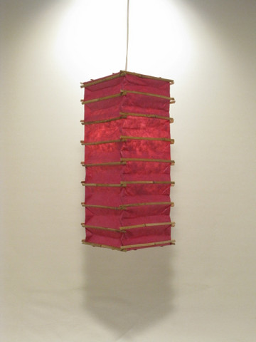 Lokta-kuutio 16x16x45cm, pinkki