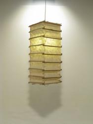 Lokta-kuutio 16x16x45cm, luonnonvalkoinen