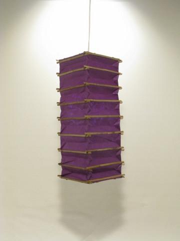 Lokta-kuutio 16x16x45cm, tumma lila