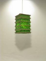 Lokta-kuutio 16x16x30cm, vihreä
