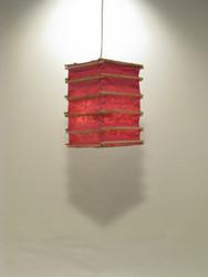 Lokta-kuutio 16x16x30cm, pinkki