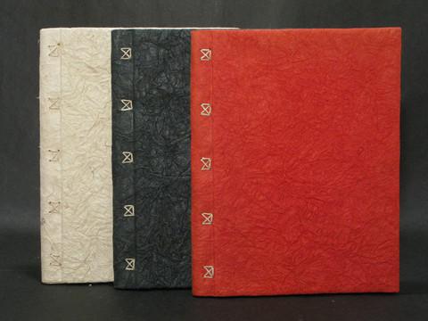 Vieraskirja A4, ryppykansi ja punos, punainen