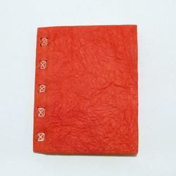 Vieraskirja A5, ryppykansi ja punos, punainen