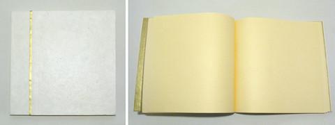 Vieraskirja, valkoinen neliö kultaraidalla
