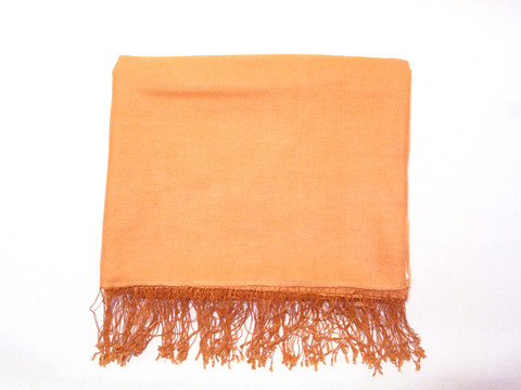 Pashminashaali, luxuslaatu, vaalea oranssi
