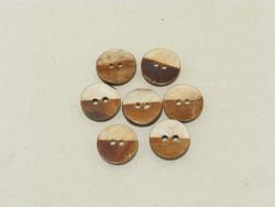 Puhvelinluunappi, pyöreä 20mm, 2-värinen, hennavärjätty