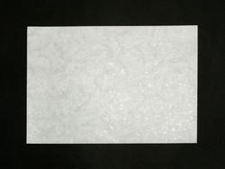 A4 Crane, valkea, harmaa helmiäispainatus