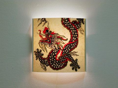 Seinävalaisin, lohikäärme 1, harmaa runko