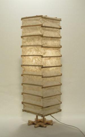 Pöytävalaisin, luonnonvalkoinen kapea 60cm