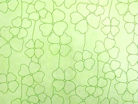 50x75cm RRS isokukka, vaaleanvihreä vihreällä painatuksella