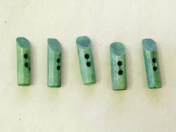 Puhvelinluunappi, pitkula, 32mm, vihreä