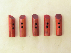 Puhvelinluunappi, pitkula, 32mm, mansikka