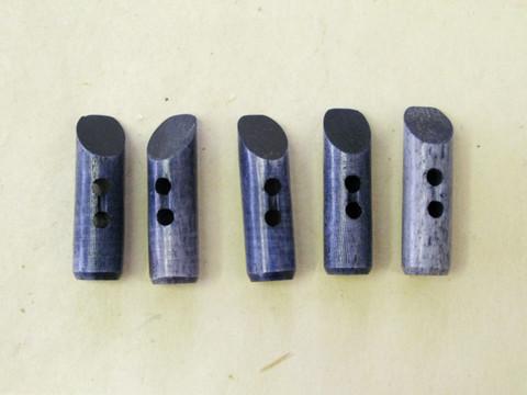 Puhvelinluunappi, pitkula, 32mm, sininen
