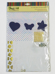 Craft It -paperisetti ja koristeita, A4 valkoinen