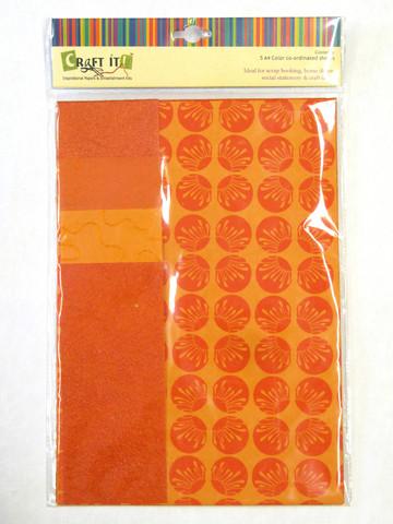 Craft It -paperisetti, A4 oranssi