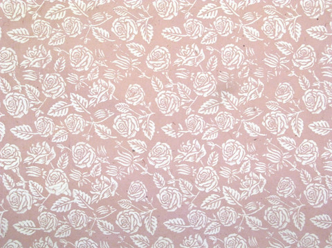50x75cm vanha roosa FF/20, valkoinen ruusupainatus