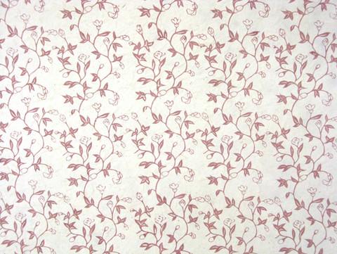 50x75cm kukkaköynnös 'Liberty' D/40, punainen painatus