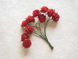 Paperiruusu, punainen 10 kpl/paketti