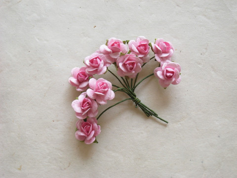 Paperiruusu, pinkki 10 kpl/paketti