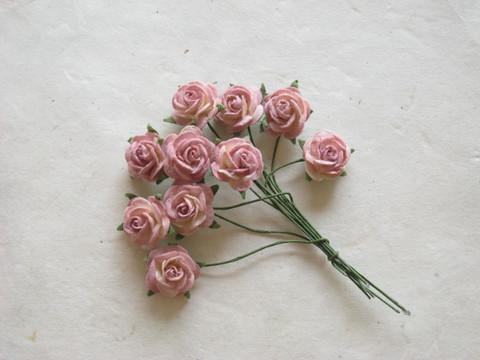 Paperiruusu, vanha roosa 10 kpl/paketti