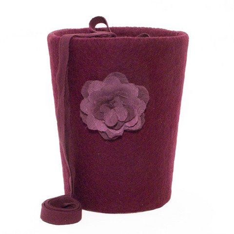 C12 rose, wine red, felt cone