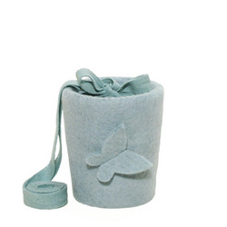 C23A butterfly, light blue, felt cone baby