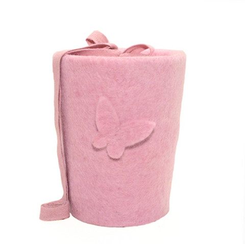 C15C butterfly, light pink, felt cone S