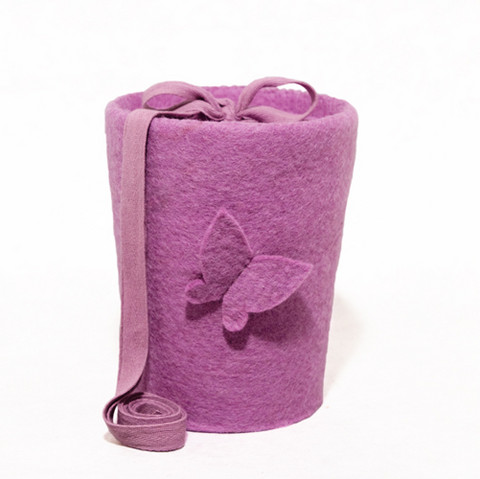 C18B butterfly, light lilac, felt cone S