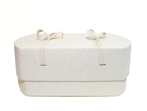 C01, natural white, oval babycasket L