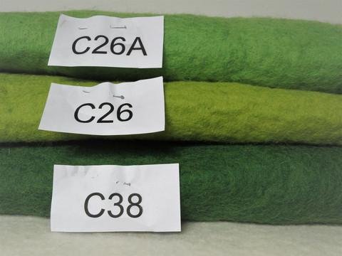 Ruohonvihreä C26A, 3 mm, 50 x 50 cm