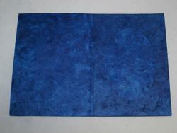 Kiitoskortti ovaalilla aukolla, sininen