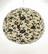 Lokta-pallo 58cm, luonnonvalkoinen, musta lootuskukkapainatus