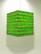 Lokta-kuutio 30x30x40cm, vaaleanvihreä/vihreä bambunlehti